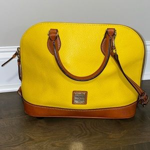 Dooney & Bourke yellow shoulder strap dome purse
